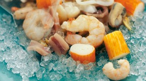 Seafood with Ice.